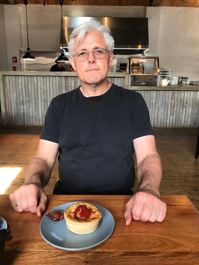 Mike sampling Coolamon pies